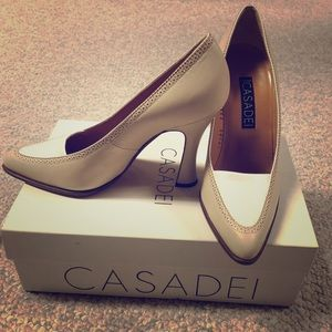 Casadei Biege and White High heel shoes